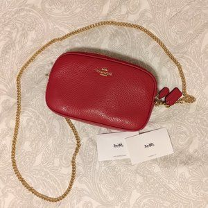 Coach Crossbody Pouch in Red! NWT